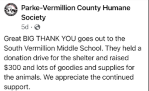 SVMS Holds Donation Drives in March